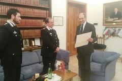 Il saluto al Luogotenente dei Carabinieri Michele Caputo