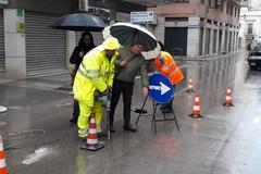 Maltempo: in via Pisani crolla la volta di una fogna bianca