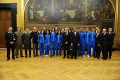 Francesco Fortunato tra i marciatori azzurri premiati dal presidente della Camera