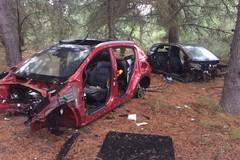 Auto rubate ritrovate in contrada Santa Barbara