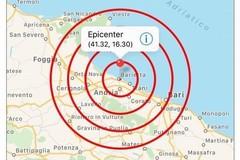 Terremoto fortissimo ad Andria, epicentro a Barletta