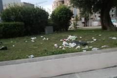Sporcizia e degrado sulla rotatoria di via Corato nei pressi del distributore Agip
