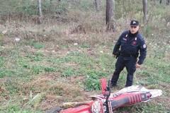 Motocross nel Parco dell'Alta Murgia, sequestrato mezzo