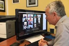 """I docenti dell'ITES """"E. Carafa"""" in videoconferenza programmano la didattica online"""