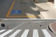 Ad Andria nuove strisce pedonali e posteggi riservati a persone diversamente abili
