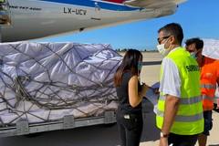Altre 60 tonnellate di materiale sanitario giunte a Bari dalla Cina per combattere l'epidemia da covid 19