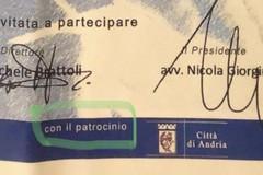 """La replica al Commissario Tufariello: """"Quindi Giorgino usa il logo del Comune di Andria senza autorizzazione?"""""""
