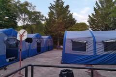 Campo di Protezione Civile della Misericordia al borgo di Montegrosso
