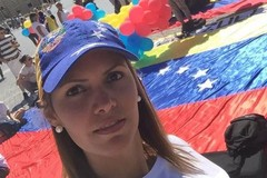 La figlia del sindaco di Caracas invia un video per ringraziare Andria del sostegno alla lotta per la libertà del Venezuela