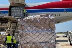 Coronavirus: altre 65 tonnellate di materiale sanitario giunte dalla Cina