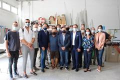 Il Governatore del Piemonte, Alberto Cirio, in visita nelle aziende della zona PIP di Andria