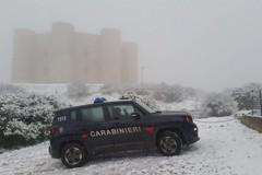 Seconda neve dell'anno su Castel del Monte, le immagini sempre suggestive