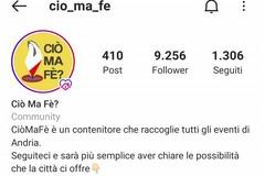 """Cresce il progetto andriese """"CiòMaFè"""", la pagina Instagram per tutti gli eventi in città"""