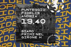 Coppa Disciplina: la Fidelis Andria è prima nel girone H di Serie D