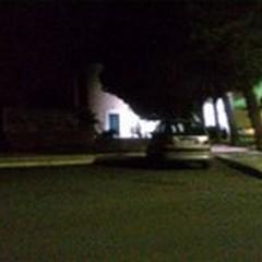 Piazza Trinità nell'oscurità da una settimana