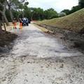 Smottamento di parte del declivio del piazzale di Castel del Monte: intervento dei volontari federiciani