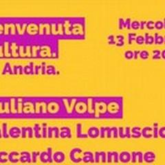 Giuliano Volpe ad Andria il 13 febbraio