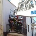 """Con una gru dei Vigili del Fuoco, 118 trasporta donna infortunata al  """"Bonomo """""""