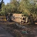 Incidente stradale con 2 feriti sulla strada per contrada Lama di Carro: intervento della Polizia locale e del 118