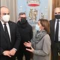 Il Sindaco Bruno riceve il Presidente ed il direttore dell'Associazione Città dell'Olio
