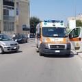 Ambulanza della Misericordia di corsa su di un intervento colpita da autoveicolo