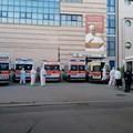 """Emergenza covid 19: Al  """"Bonomo """" 10 ambulanze in attesa di affidare altrettanti pazienti"""