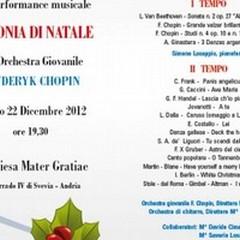 «Armonie di Natale», la perfomance musicale dell'Orchestra Chopin