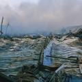 Terminate all'alba le operazioni di spegnimento dell'incendio alla fabbrica di Andria