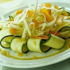 Carpaccio di zucchine e sedano