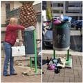 Svuota il contenitore delle pile dagli altri rifiuti per un corretto conferimento