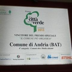 """""""Comune più organico """" d'Italia: premiata la Città di Andria"""