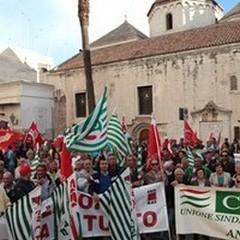 Lavoro: sindacati provinciali uniti in piazza a Trani