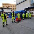 Una nuova tenda montata nell'ospedale Bonomo a supporto dell'attività del personale del 118