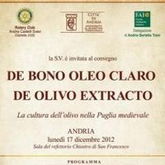 «De bono oleo claro. De olivo extracto»: la cultura dell'olivo nella Puglia medievale
