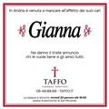 La Transgender Gianna compare sui manifesti funebri con il suo nome al maschile, l'intervento di Taffo