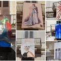"""""""L'arte nel vento """": mostra diffusa sui balconi di via Regina Margherita"""