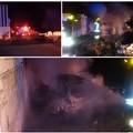 Auto data alle fiamme nei pressi di via vecchia Canosa. Intervento dei Vigili del Fuoco