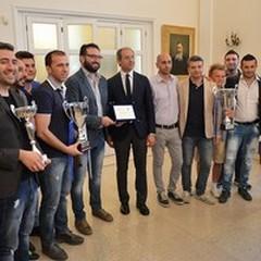 """Futsal Andria premiata in Comune dopo il  """"Triplete """""""