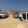 Ritrovata nelle campagne tra Andria e Bisceglie un'auto cannibalizzata