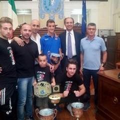 Premiati dal Sindaco e dall'Assessore allo Sport di Andria tre giovani atleti