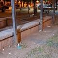 Sporcizia e degrado nel parco