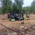 Incidente sulla sp Andria Bisceglie: auto si ribalta ad un curvone
