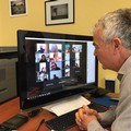 """I docenti dell'ITES  """"E. Carafa """" in videoconferenza programmano la didattica online"""