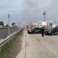 Camion in fiamme, sp231 bloccata da Corato in direzione Andria