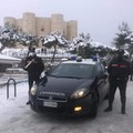 """Il nostro fantastico Castello innevato per il  """"buongiorno """" dei Carabinieri"""