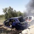 Incendio nel bosco di Sant'Agostino: ritrovate scocche di auto in fiamme
