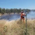 Vasto incendio alla contrada Borduito, nei pressi dell'Istituto Lotti