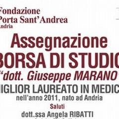 Premio «dott. Giuseppe Marano», l'iniziativa della Fondazione Porta Sant'Andrea