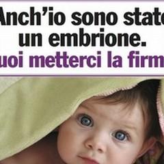 Difendere la vita: firmare per  la vita dell'embrione
