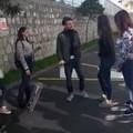 """L'attore andriese non udente Armando Conte, sul set de """"La metamorfosi della Camorra"""""""
